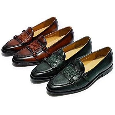 Mens Loafers Genuine Leather Apron Slip On Dress Shoes Fashion Penny Loafers Oversized Shoes 15 Man