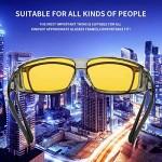 Dollger Night Driving Glasses for Men Women Wrap Around Anti Glare Polarized HD Yellow Night Vision Glasses