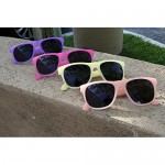 Edge I-Wear 12 Pack Fun Party Color Changing Sport Horn Rimmed Frame Sunglasses UV Protective Lens 5402DA