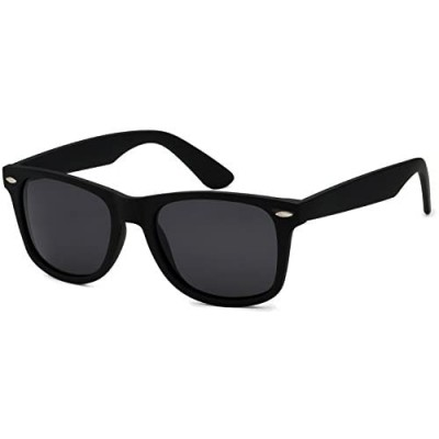 Men's Black Classic Horn Rimmed Retro Sunglasses