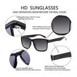 RONSOU Vintage Polarized Sunglasses for Men Women Retro Classic Trendy Stylish Square Sun Glasses