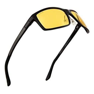 Soxick Night Driving Glasses Anti Glare Polarized Night Vision Sunglasses for men women Yellow