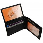 Castello Italian Soft Leather Flip-Up Billfold with Two I.D.