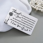 Dad Gifts Engraved Metal Wallet Inserts Cards Fathers Day Present for Dad from Kids Father's Gift Daddy Birthday Present Father Thank You for Giving from Your Heart Note Card