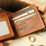 Letoor Mens Personalized Engraved Leather Wallet for Boyfriend -Tri-fold Wallet to my Man- Custom Love Message Wallets for Boyfriend from Girlfriend Brown 9.5CM12CM