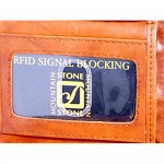 New Stone Mountain Men's Leather RFID Protection Interior Zip Trifold Wallet