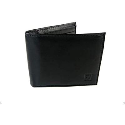 New Stone Mountain Mens Wallet Genuine Black Leather RFID Passcase Billfold