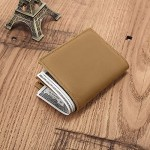 Personalized Engraved Leather Wallet for Son from Mom Mother - Birthday Christmas Graduation Wedding - I Love You - Unique Men Custom Bifold Purse for Him with Romantic Message