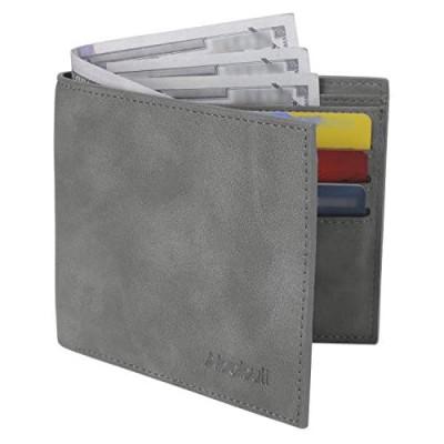 Wallets for Men Slim Wallet Leather Front Pocket Wallet Small Credit Card Rfid Blocking
