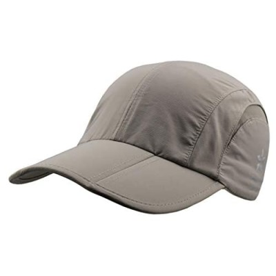 3-Panel Foldable UPF 50+ Sun Protection Portable Hats Quick Dry Baseball Cap Breathable Soft Adjustable Outdoor Sports Hat