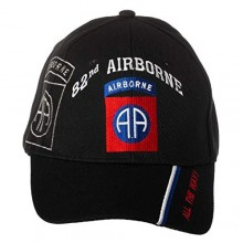 Artisan Owl Officially Licensed US Army 82nd Airborne Division All The Way! Embroidered Adjustable Baseball Cap