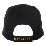 Artisan Owl Officially Licensed US Army Aviation Embroidered Black Baseball Cap