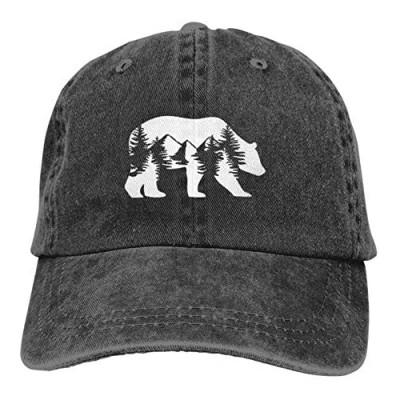 Bear Baseball Cap Cute Vintage Adjustable Dad Hat Washe Hat for boy Girl