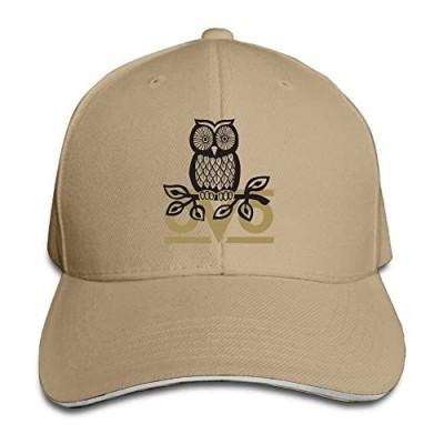 Custom OVO Owl Sandwich Adjustable Cap Sunbonnet Chapeau Ash