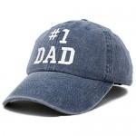 DALIX #1 Dad Hat Number One Vintage Cotton Baseball Cap