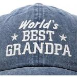 DALIX Worlds Best Grandpa Hat Vintage Cap Gift Washed Cotton