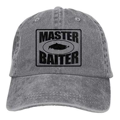 FEAIYEA Denim Cap Fishing Master Baiter Baseball Dad Cap Adjustable Classic Sports for Men Women Hat