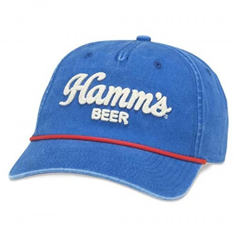 Hamm's Beer Embroidered Logo Snapback Hat Blue