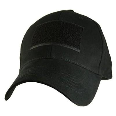 Hook & Loop Front Patch Tactical Cap Black