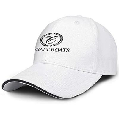 Mens Womens Baseball Cap Logo Cobalt-Brand-Logo- Sparkle Adjustable Trucker Hat Sandwich Brim Hat
