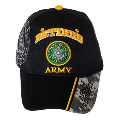 Officially Licensed US Army Retired Baseball Cap in Black & Digital Camo