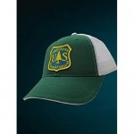 PNW Wonderland Apparel U.S Forest Service USFS Sustainable Trucker Hat w/Mesh Snapback Forest Service Woven Patch