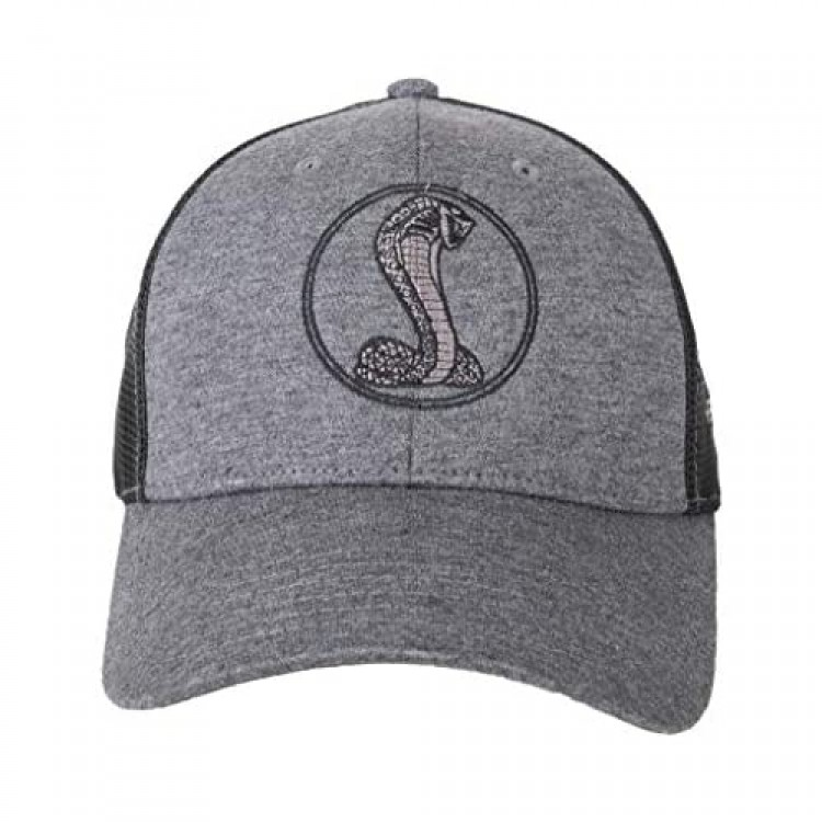 Shelby Snake Medallion Jersey Mesh Heather Black Hat | Officialy Licensed Shelby Product | One-Size Fits All | Adjustable Hook and Loop Fabric Strap with D-Ring Closure