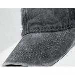 Unisex Pocket Sloth Vintage Jeans Adjustable Baseball Cap Cotton Denim Dad Hat