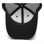 Unisex Summer Outdoor Black Baseball Caps Snapback Hat Red Logo Trucker Hat