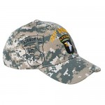 US Army 101st Airborne Corps Screaming Eagles Embroidered Camo Adjustable Baseball Cap