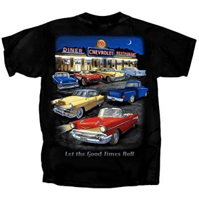 Joe Blow Tees Chevrolet Chevy Night Time Diner Short Sleeve T-Shirt