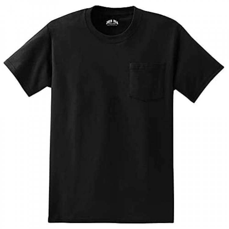Mens Pocket Tees 6.1-Ounce 100% Cotton T-Shirts in Regular Big and Tall Sizes