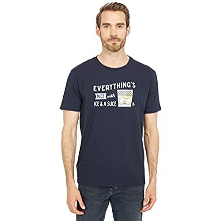 Original Penguin Men's Standard Ice & a Slice Short Sleeve Tee Shirt