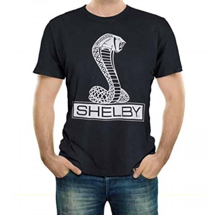 Shelby Cobra Snake Logo Tee T-Shirt   100% Cotton   Black
