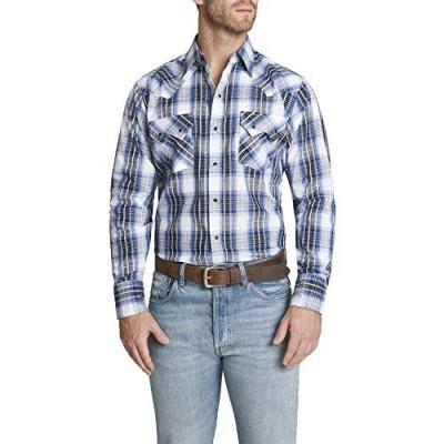 ELY CATTLEMAN Men's Long Sleeve Textured Plaid Western Shirt