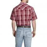 ELY CATTLEMAN Men's Short Sleeve Textured Dobby Western Shirt