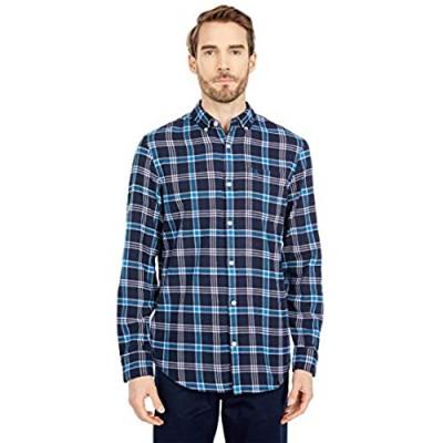 Original Penguin Men's Standard Plaid Long Sleeve Button-Down Flannel Shirt
