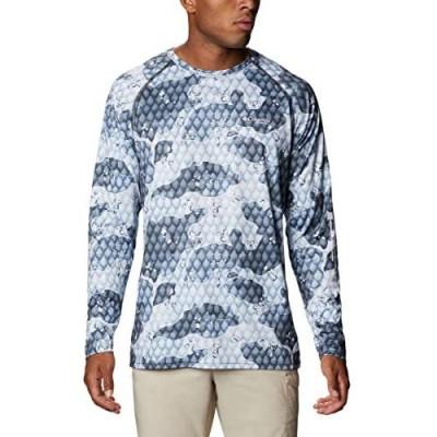Columbia Men's PFG Super Terminal Tackle Long Sleeve Shirt Quick Drying Sun Protection Tarpon Camo Medium
