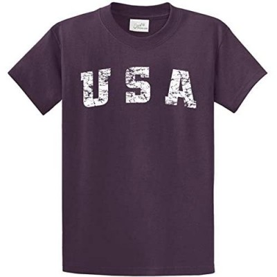 Vintage USA Logo Tee Tee's in 42 Colors and Regular Big and Tall Sizes
